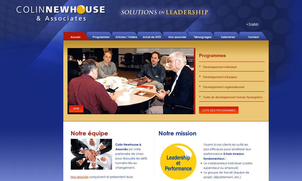 Colin Newhouse – Solutions en leadership